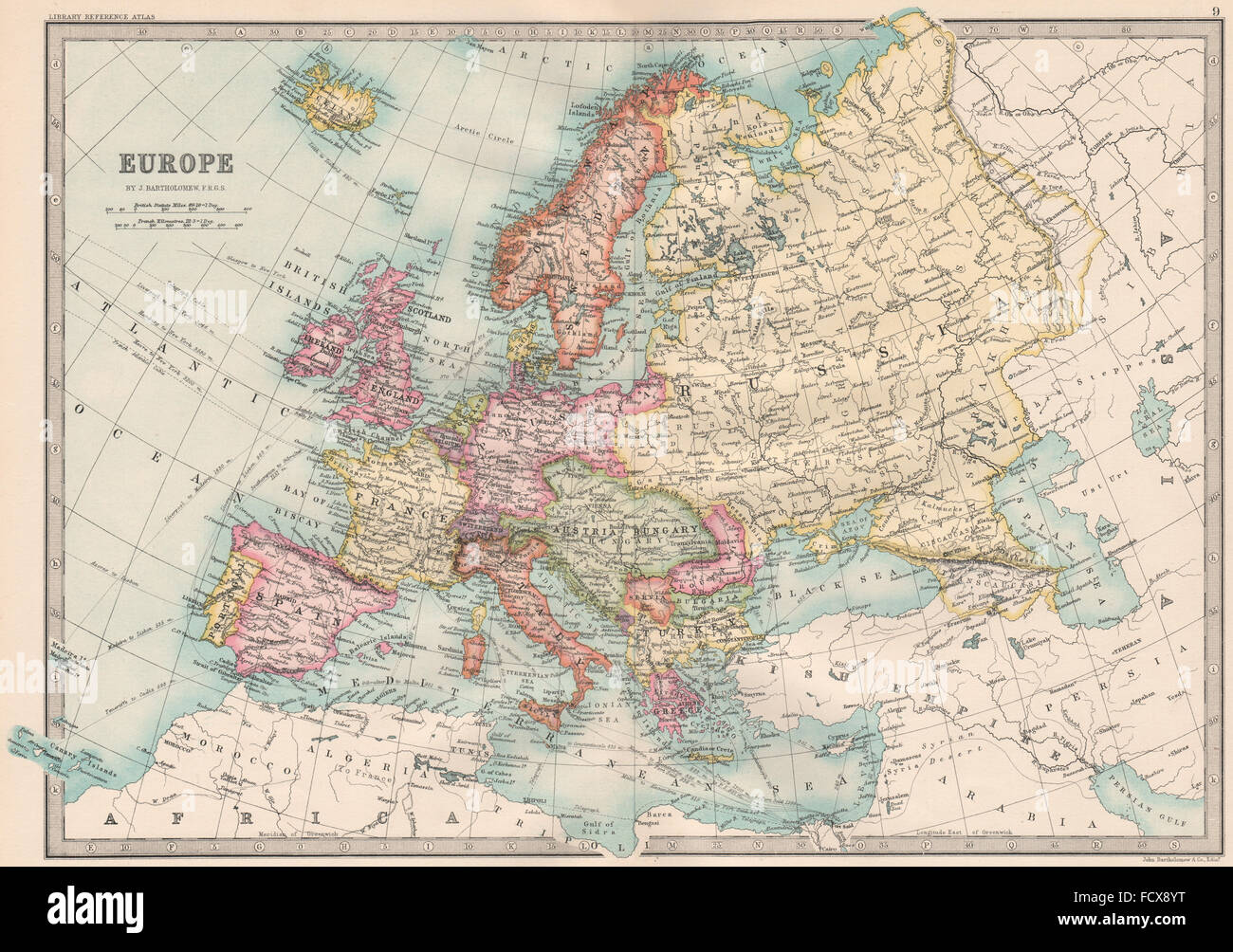 Map Of Europe High Resolution Stock Photography And Images Alamy