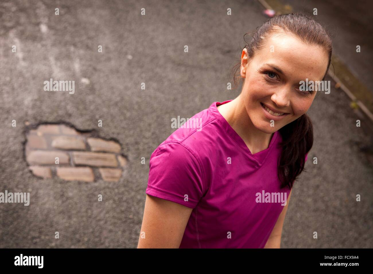 Olympic and World Champion track cyclist, Victoria Pendleton - Stock Image