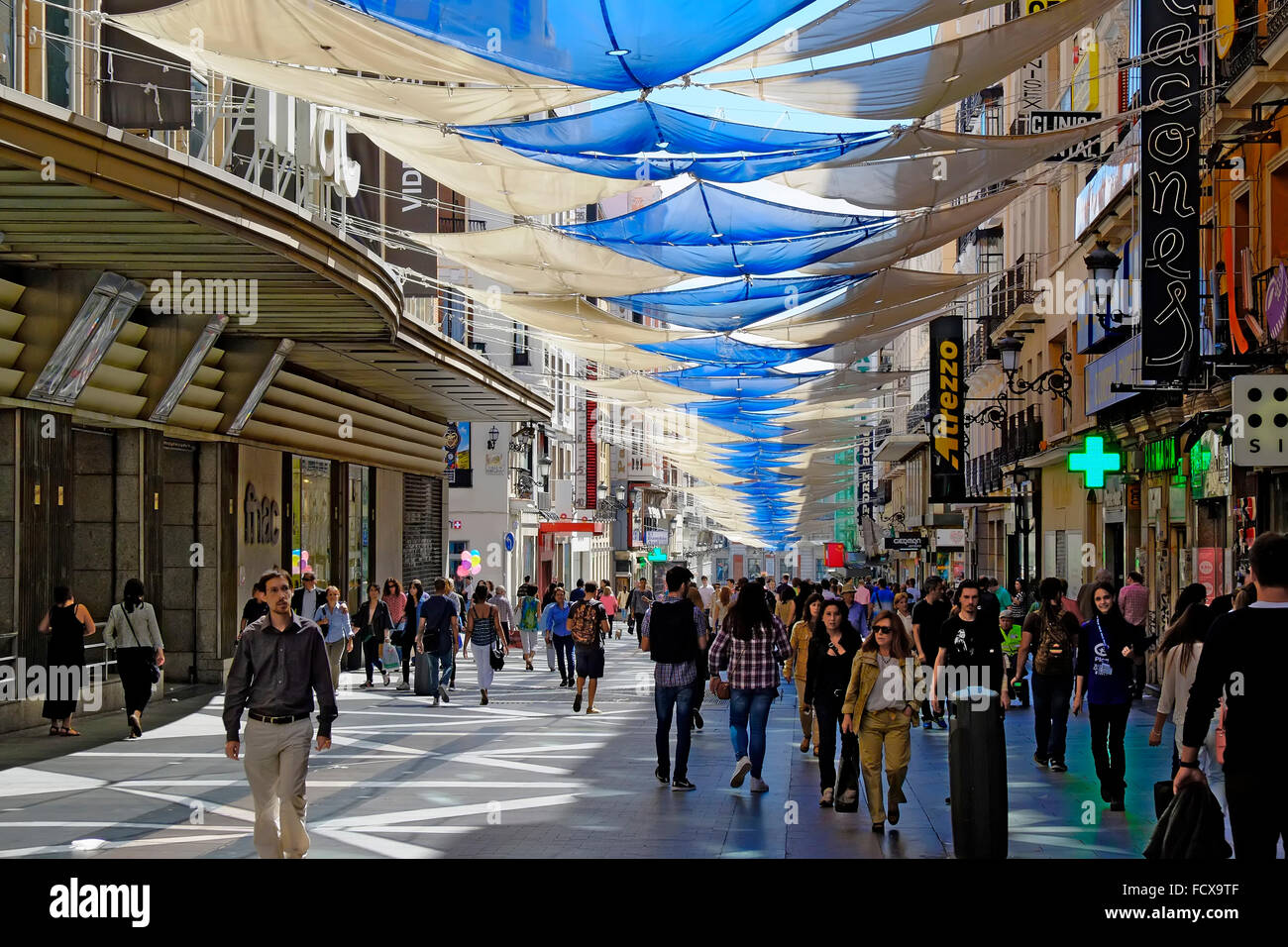 Calle Preciados Near Puerta Del Sol Madrid Spain Es Stock