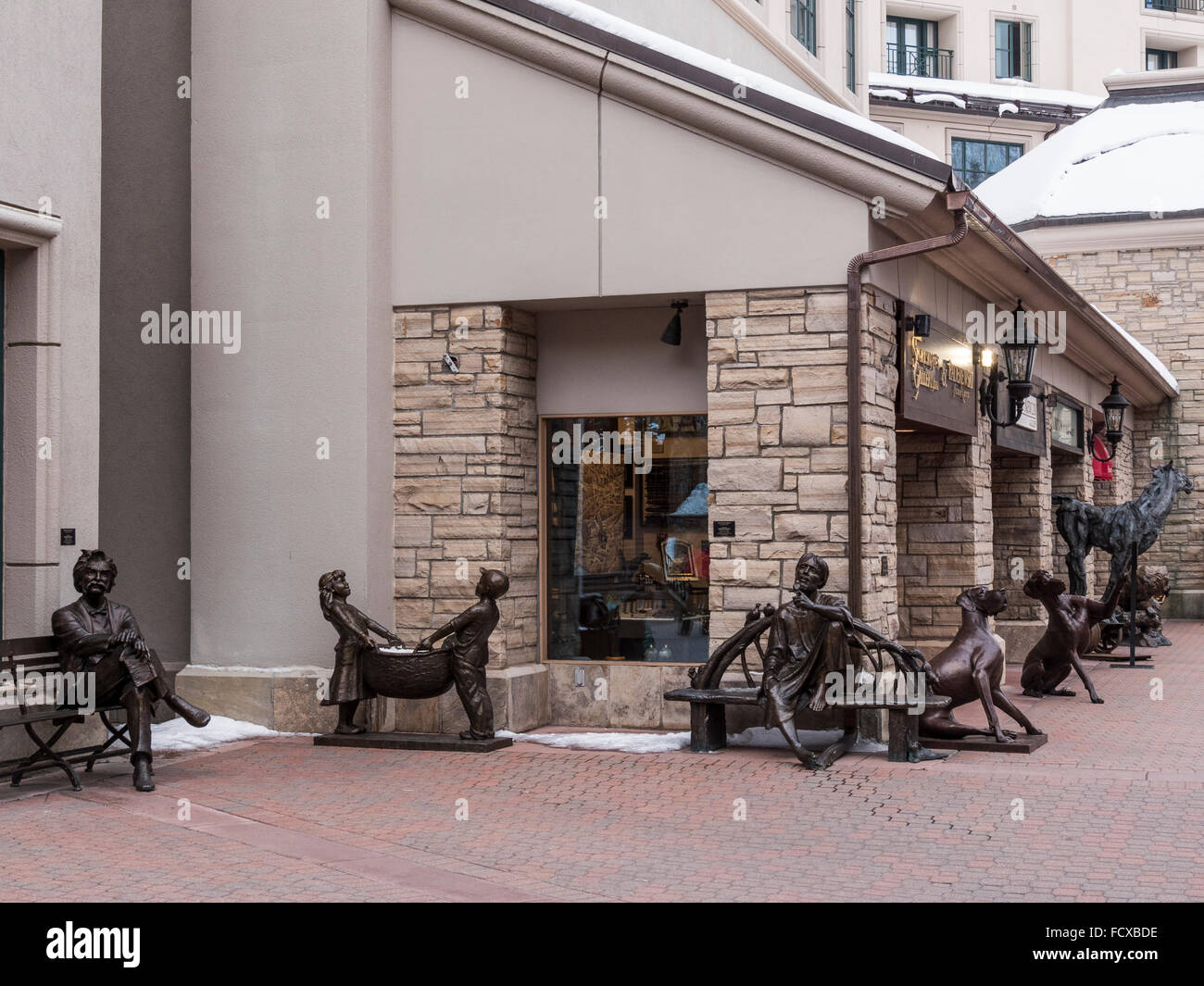 Beaver Creek Village mall, Beaver Creek Ski Resort, Avon, Colorado. - Stock Image