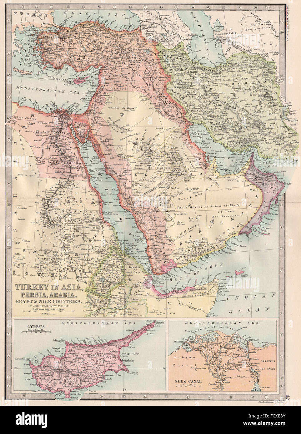 Middle east turkey asia persia iran arabia egypt cyprus suez middle east turkey asia persia iran arabia egypt cyprus suez canal 1890 map gumiabroncs Gallery
