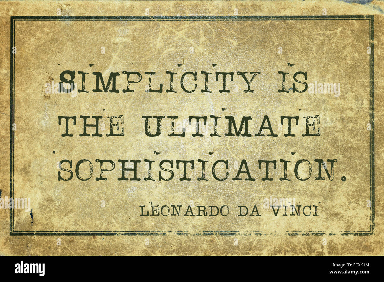 Simplicity Is The Ultimate Sophistication Ancient Italian Artist