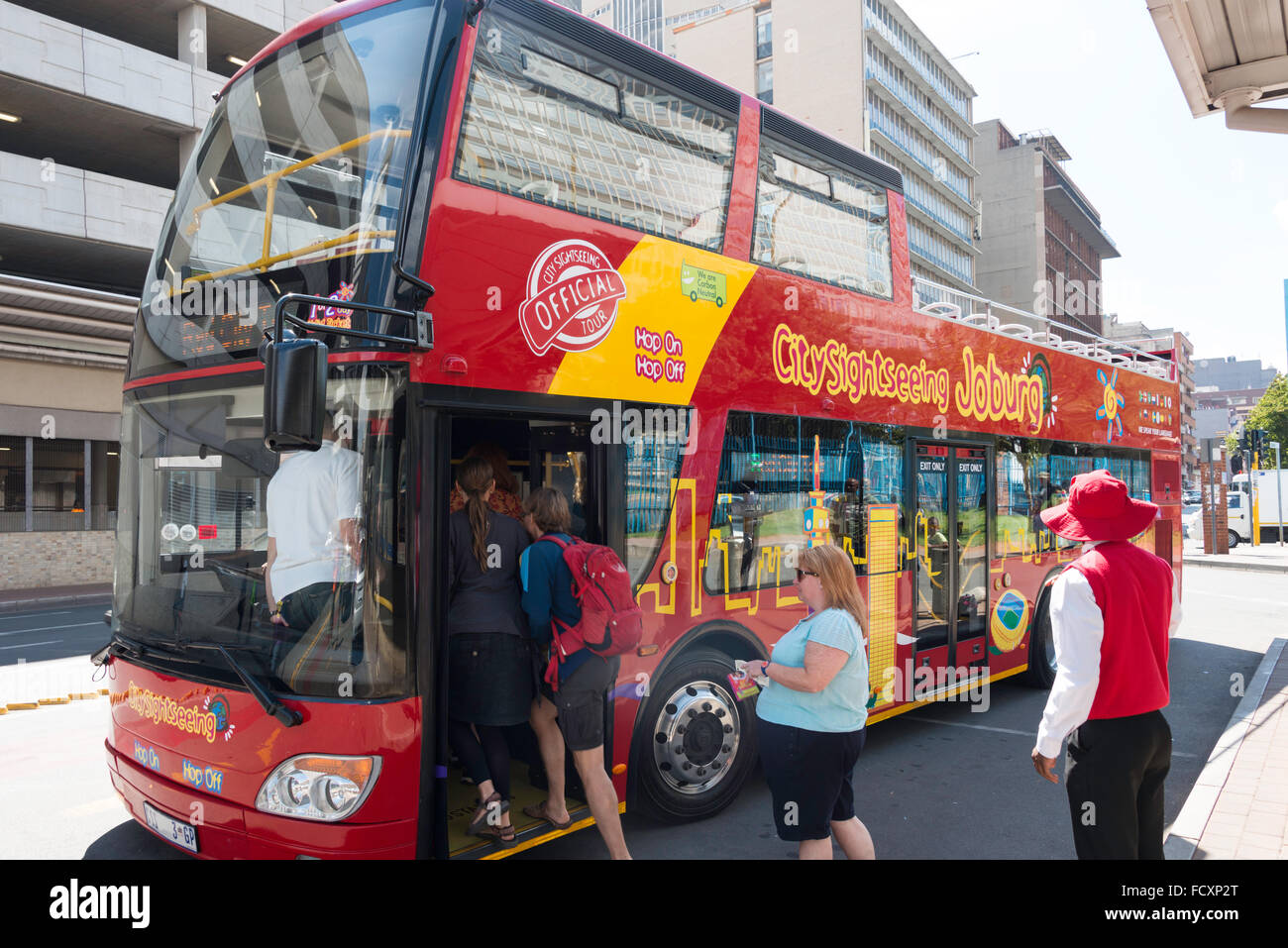 City Sightseeing Bus, Johannesburg, City of Johannesburg Metropolitan Municipality, Gauteng Province, Republic of - Stock Image