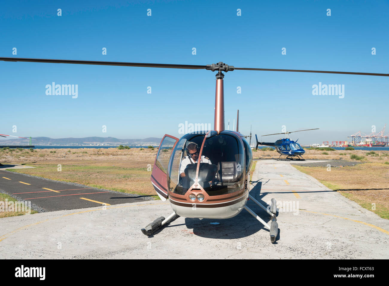 City sightseeing helicopter, Cape Town, City of Cape Town Municipality, Western Cape Province, Republic of South - Stock Image