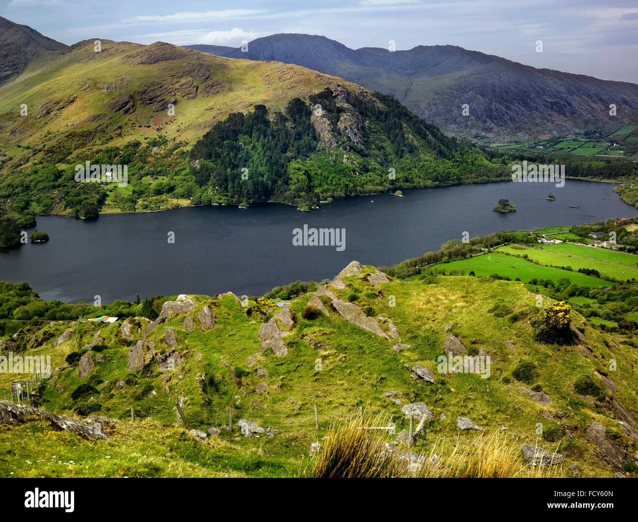 Glanmore Lake, Healy Pass, Beara Peninsula, Kerry - Stock Image