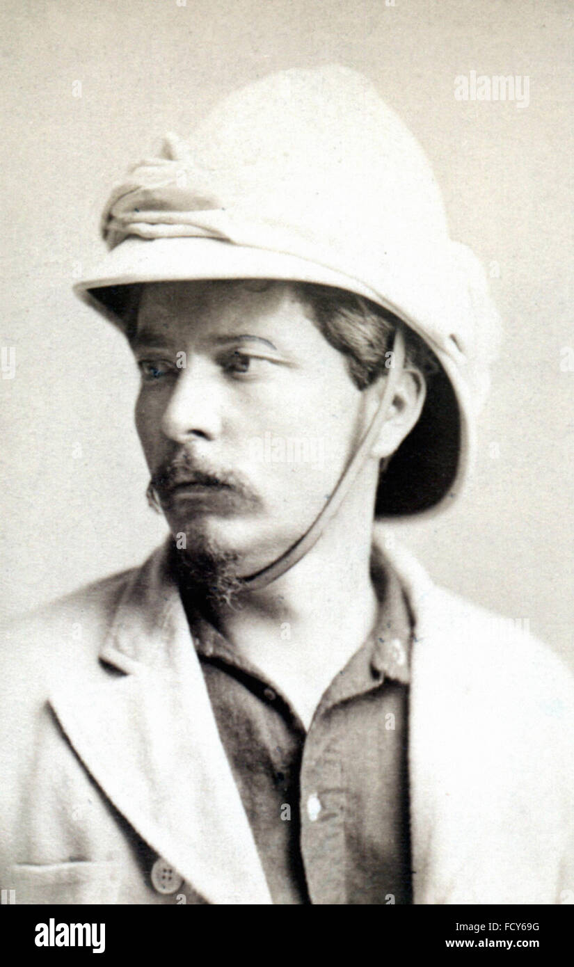 portrait of henry morton stanley 1841 1904 explorer - Stock Image