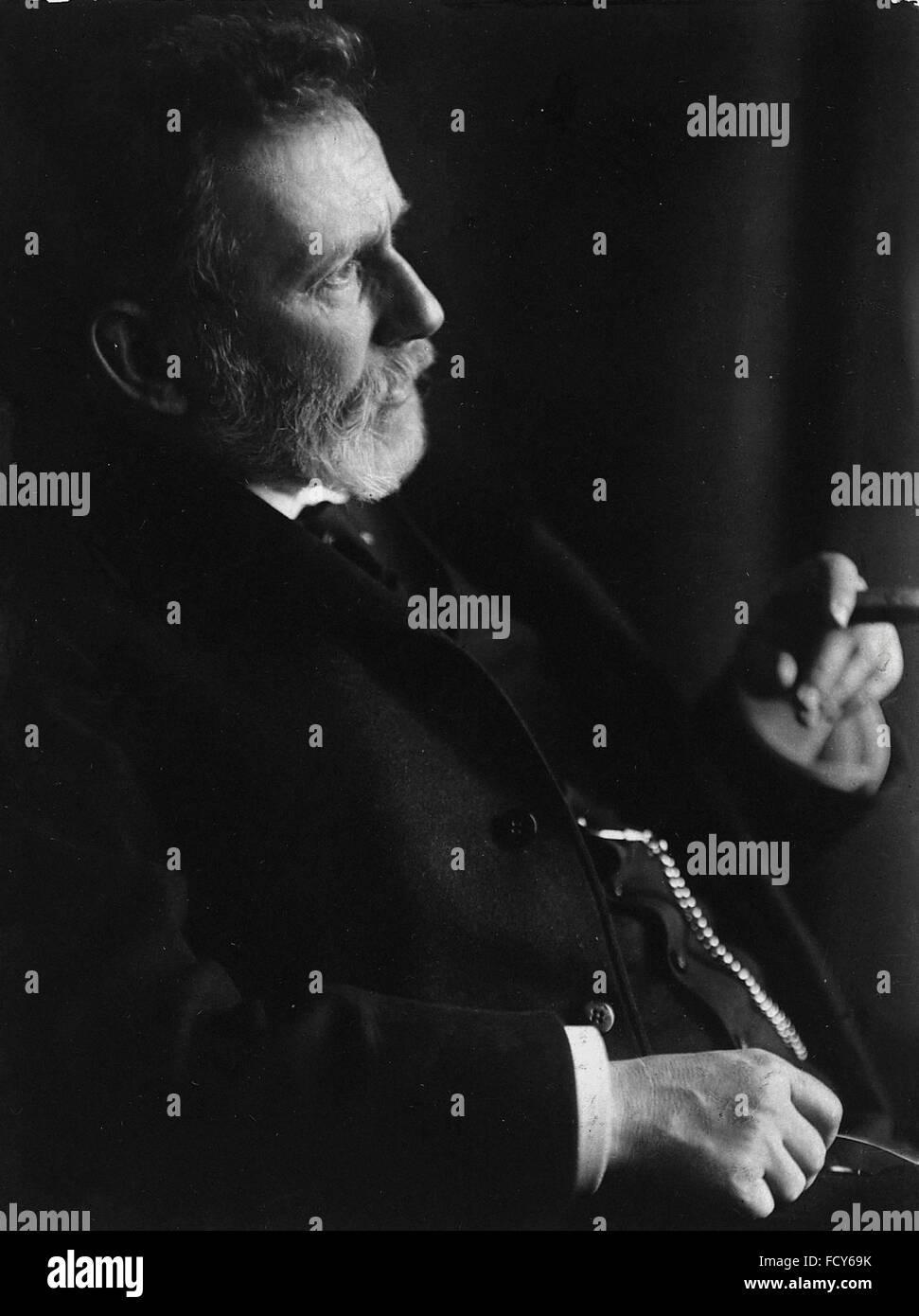 portrait of paul ehrlich 1854 1915 medical scientist - Stock Image