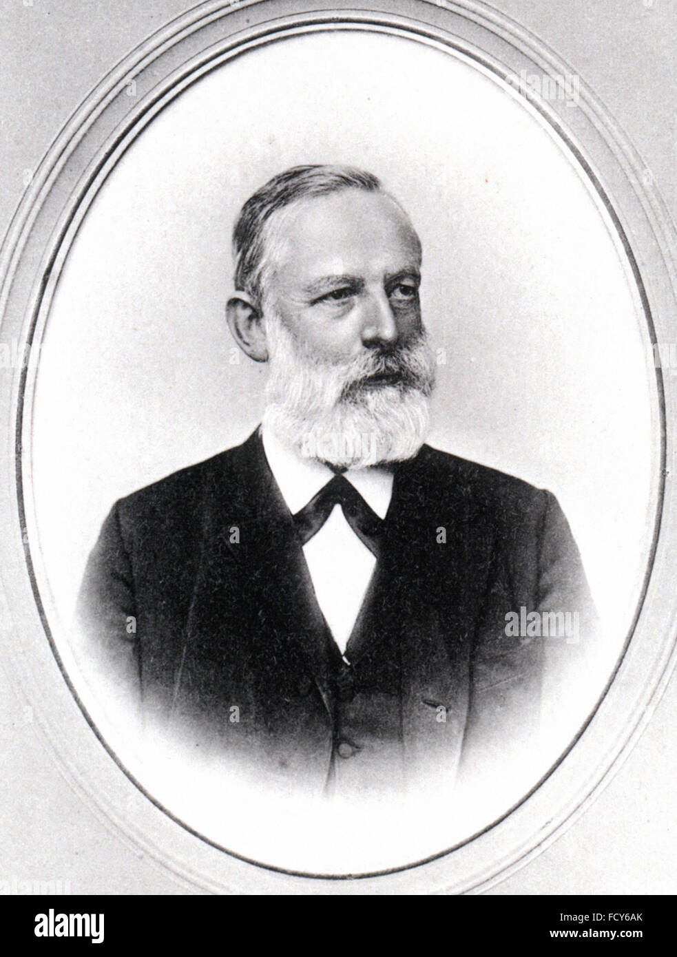 portrait of lothar meyer 1830 1895 chemist - Stock Image