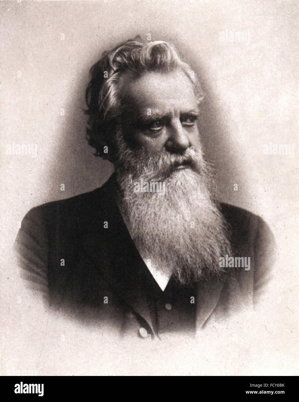 portrait of carl bernhard wilhelm scheibler 1827 1899 chemist - Stock Image