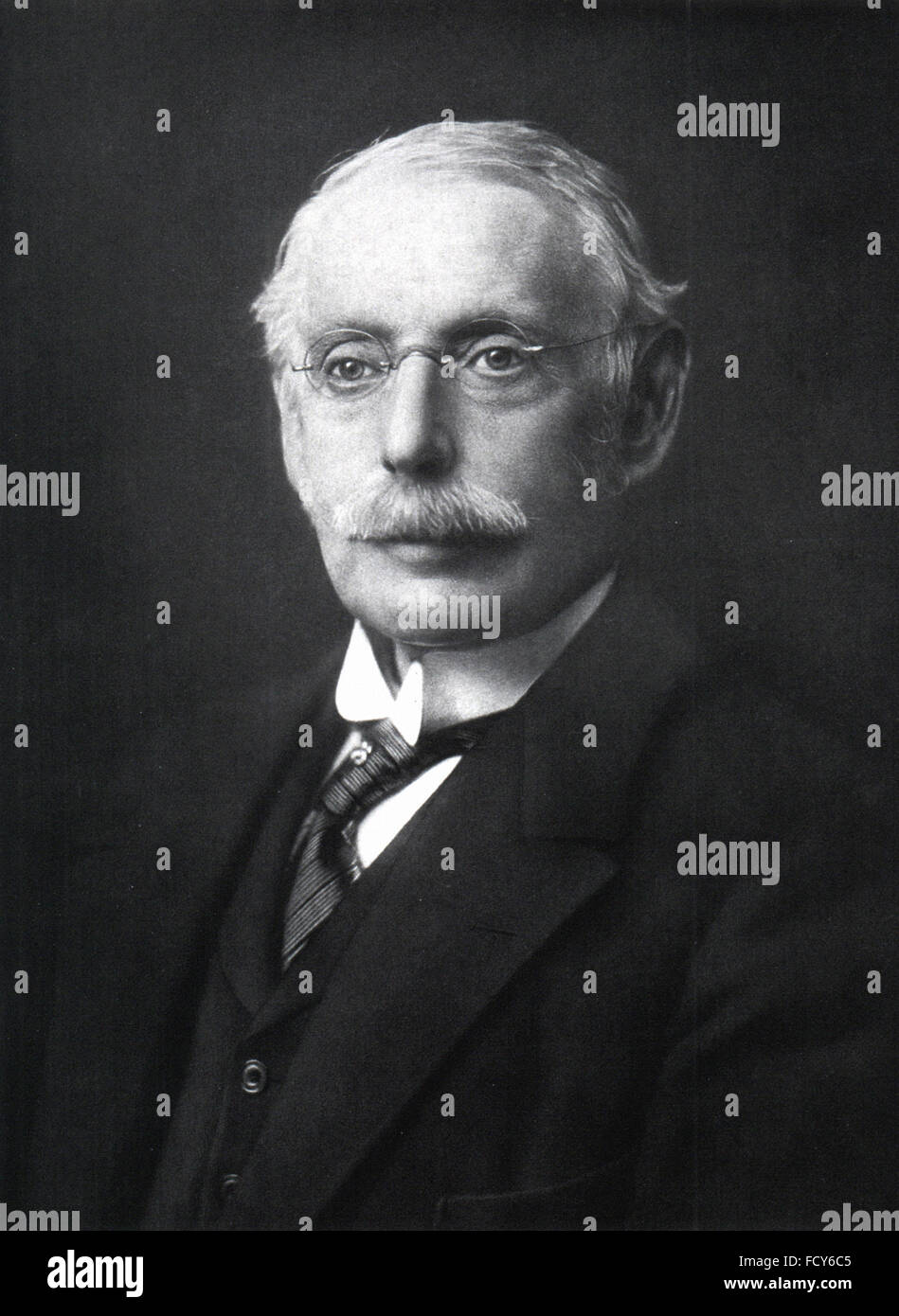portrait of charles parsons 1854 1931 engineer - Stock Image