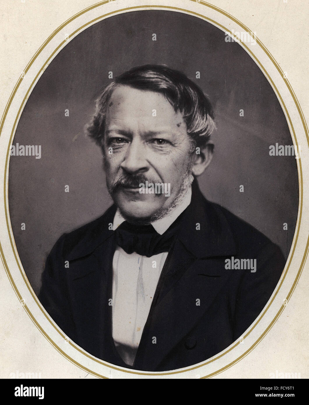 portrait of heinrich wilhelm dove 1803 1879 meteorologist and physicist - Stock Image
