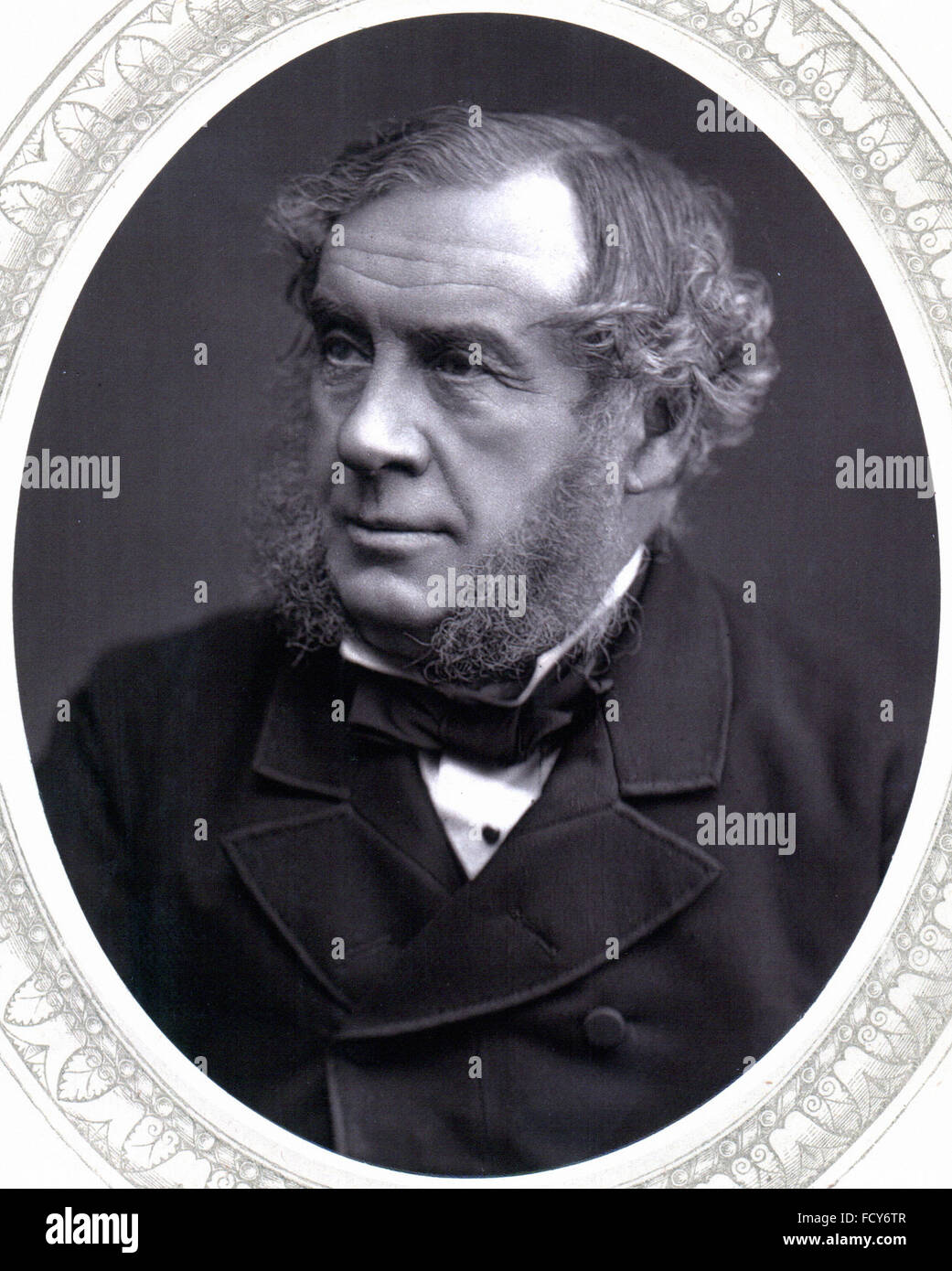 portrait of william robert grove 1811 1896 physicist and chemist - Stock Image