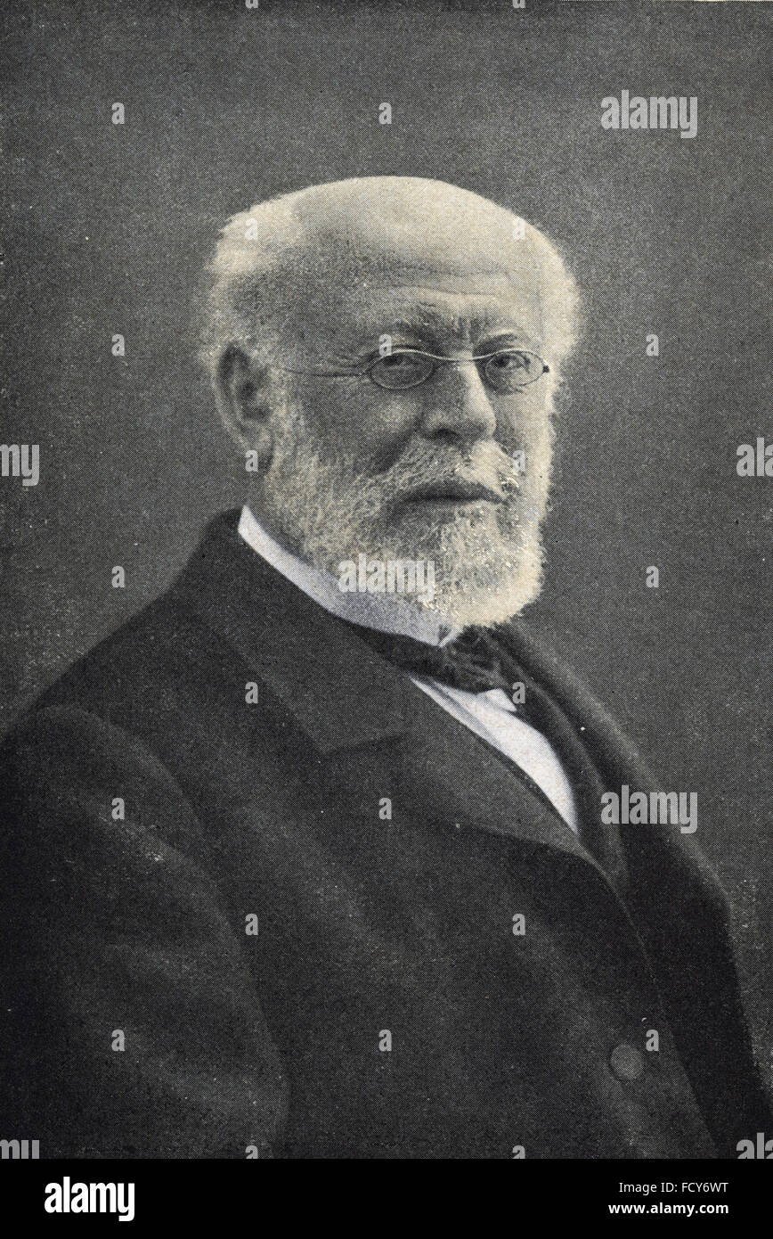 portrait of moritz cantor 1829 1920 mathematician - Stock Image