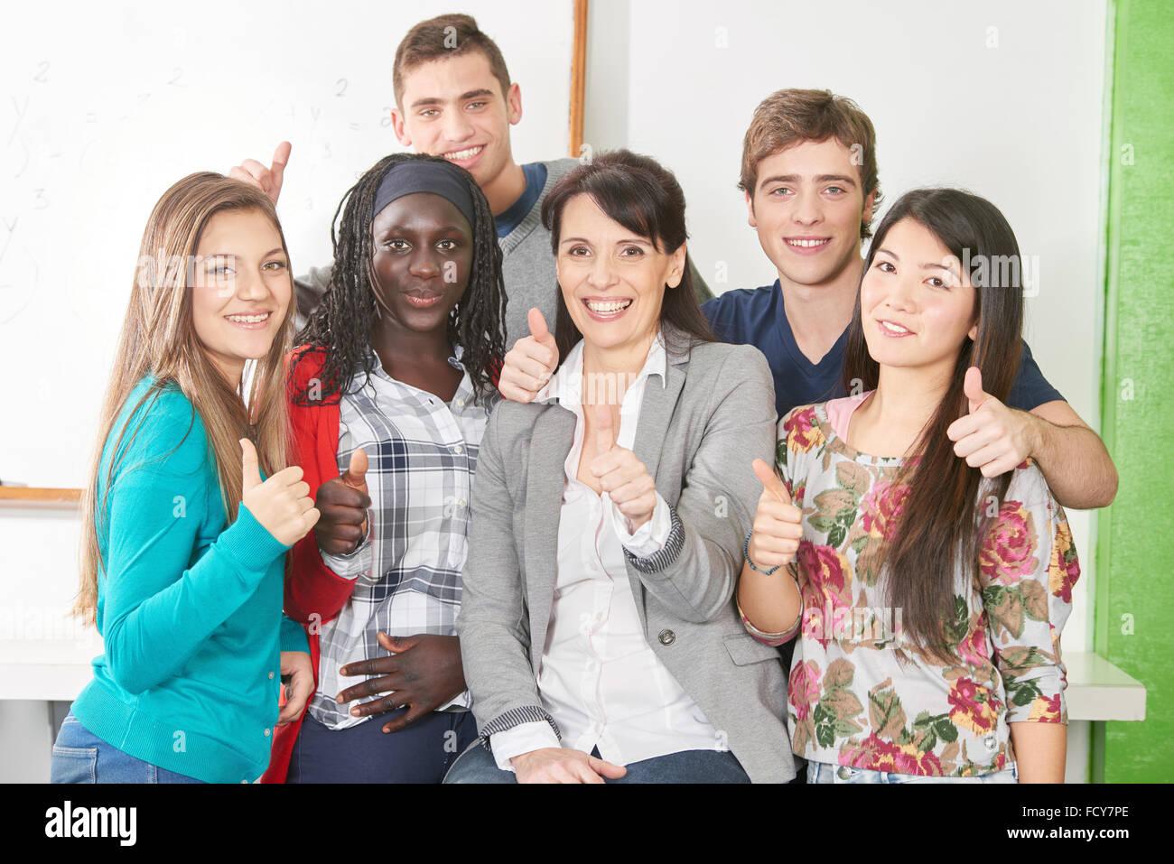 Students female interracial