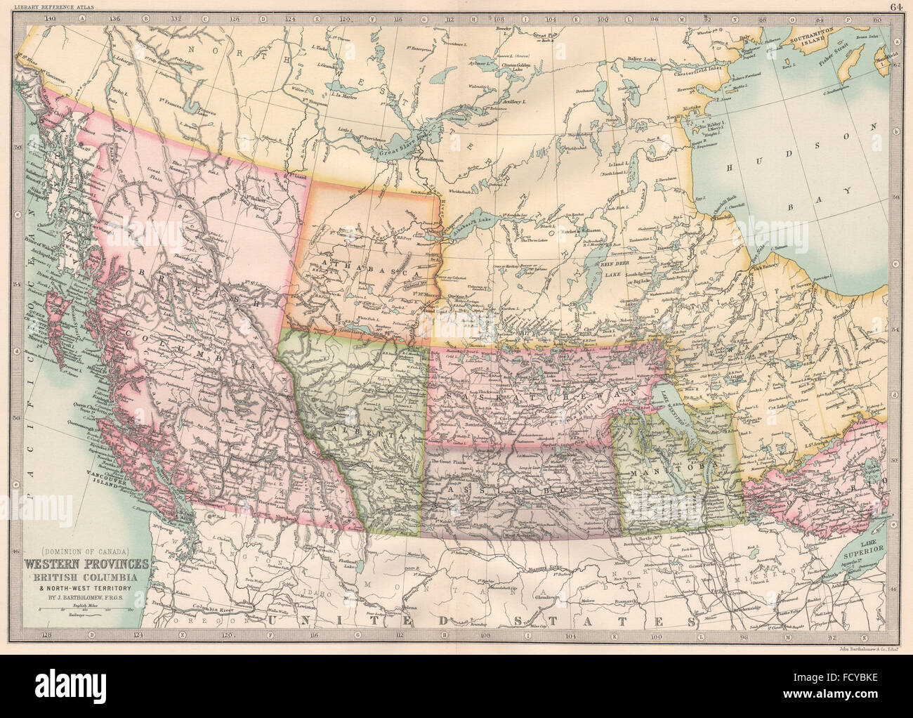 Map Of Western Canada Provinces.Old Map Western Canada Stock Photos Old Map Western Canada Stock