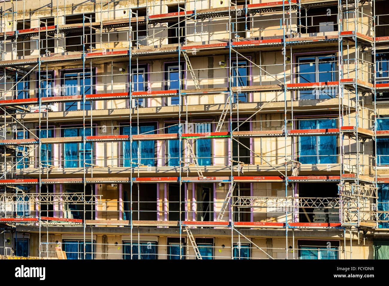 Public housing in Hamburg, Germany Stock Photo