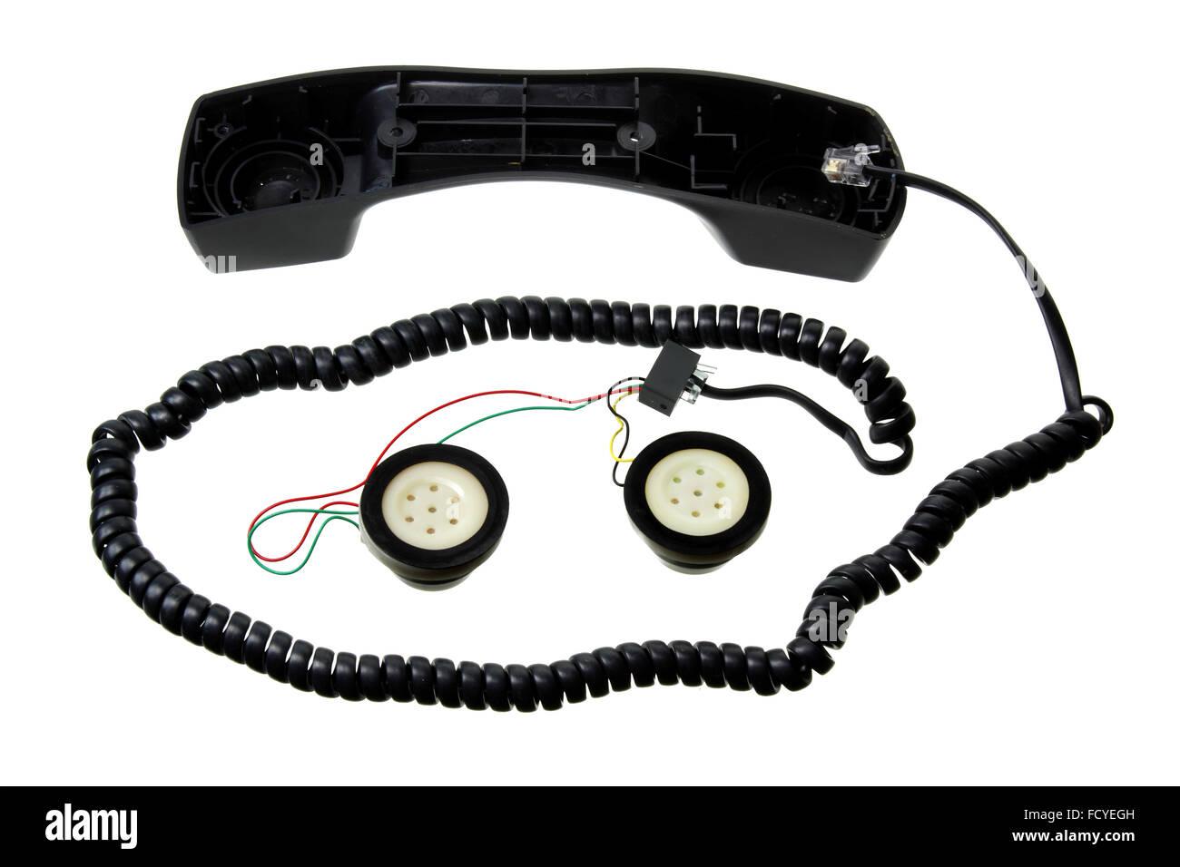 Broken Telephone Handset - Stock Image