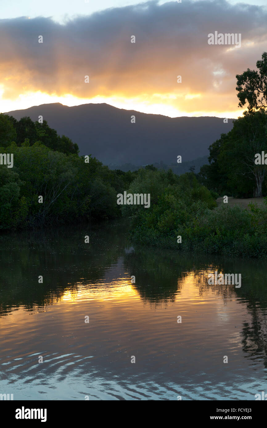 Sunset in Queensland, Australia - Stock Image