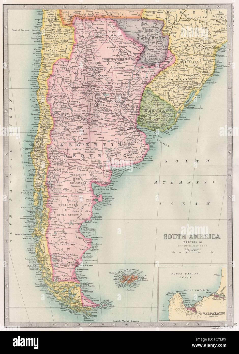 CAPE HORN: Argentina Chile Paraguay & Uruguay. BARTHOLOMEW ...