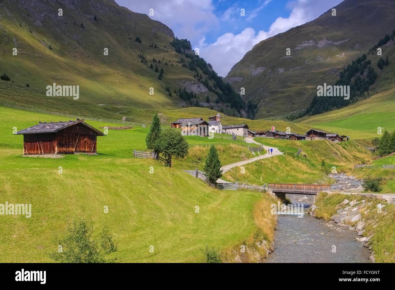Fane Alm in den italienischen Dolomiten - Fane Alp in italian Dolomites - Stock Image