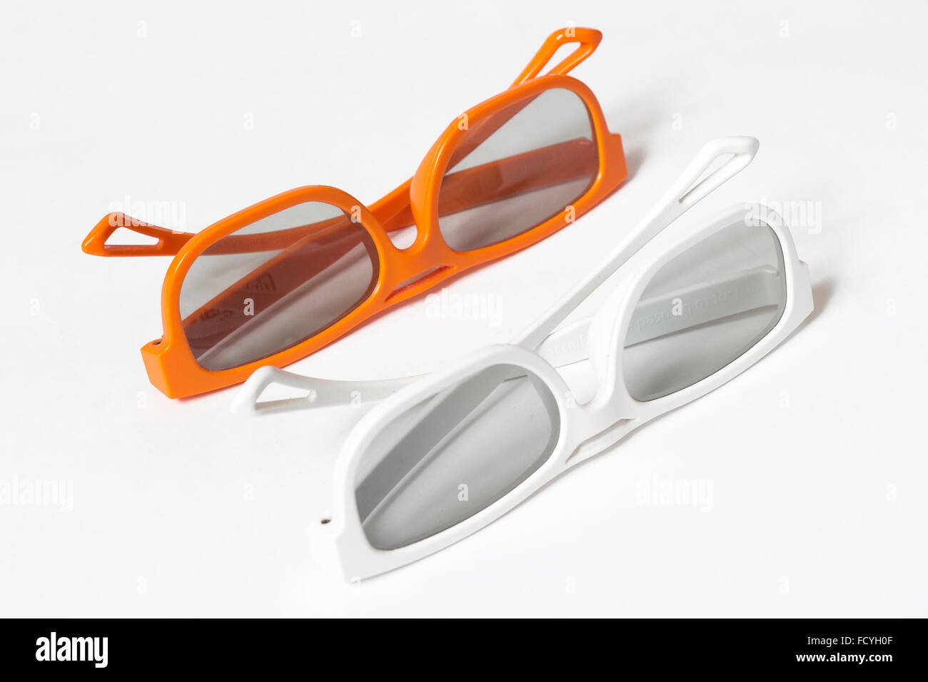 A pair of 3D glasses - Stock Image