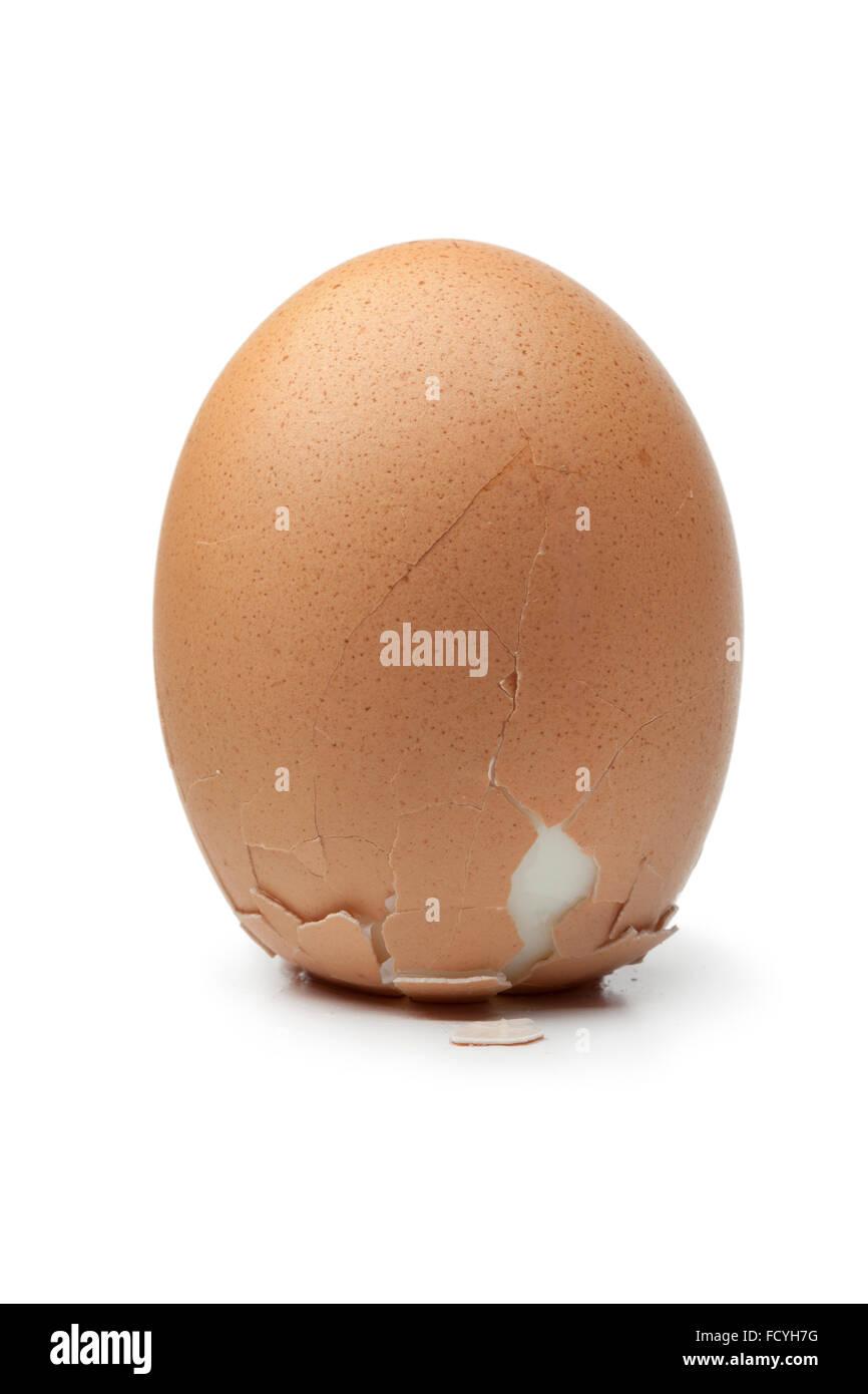 Columbus' egg  on white background - Stock Image