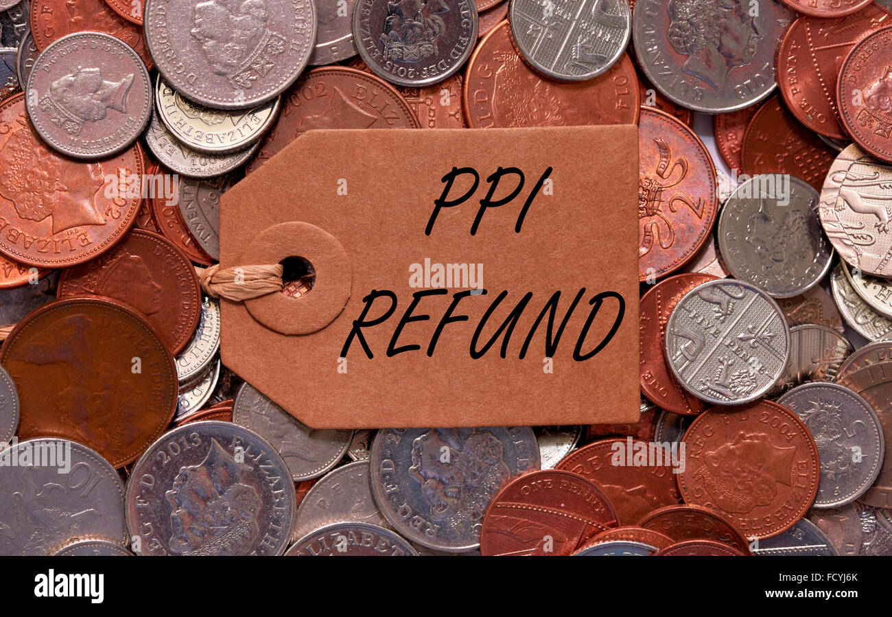 Ppi stock photos ppi stock images alamy ppi refund label on british mixed coins stock image spiritdancerdesigns Gallery