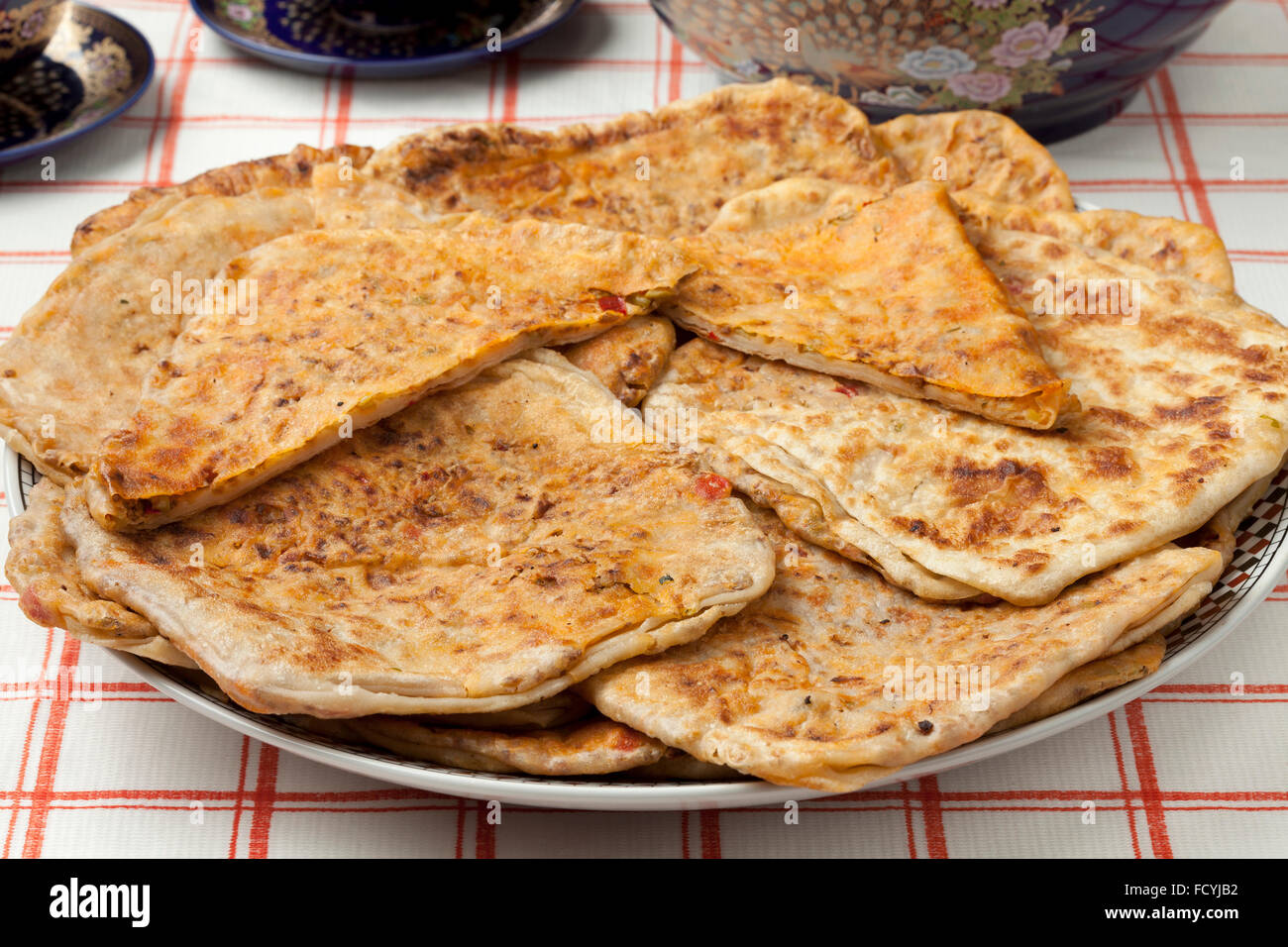 Moroccan filled Msemmen for ramadan - Stock Image