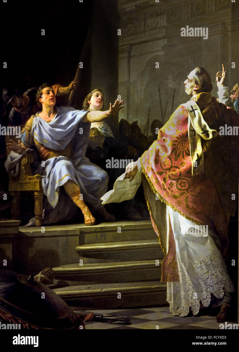 Prioress of the altar paintings of Our Lady of Good News d`Orleans France French - Stock Image