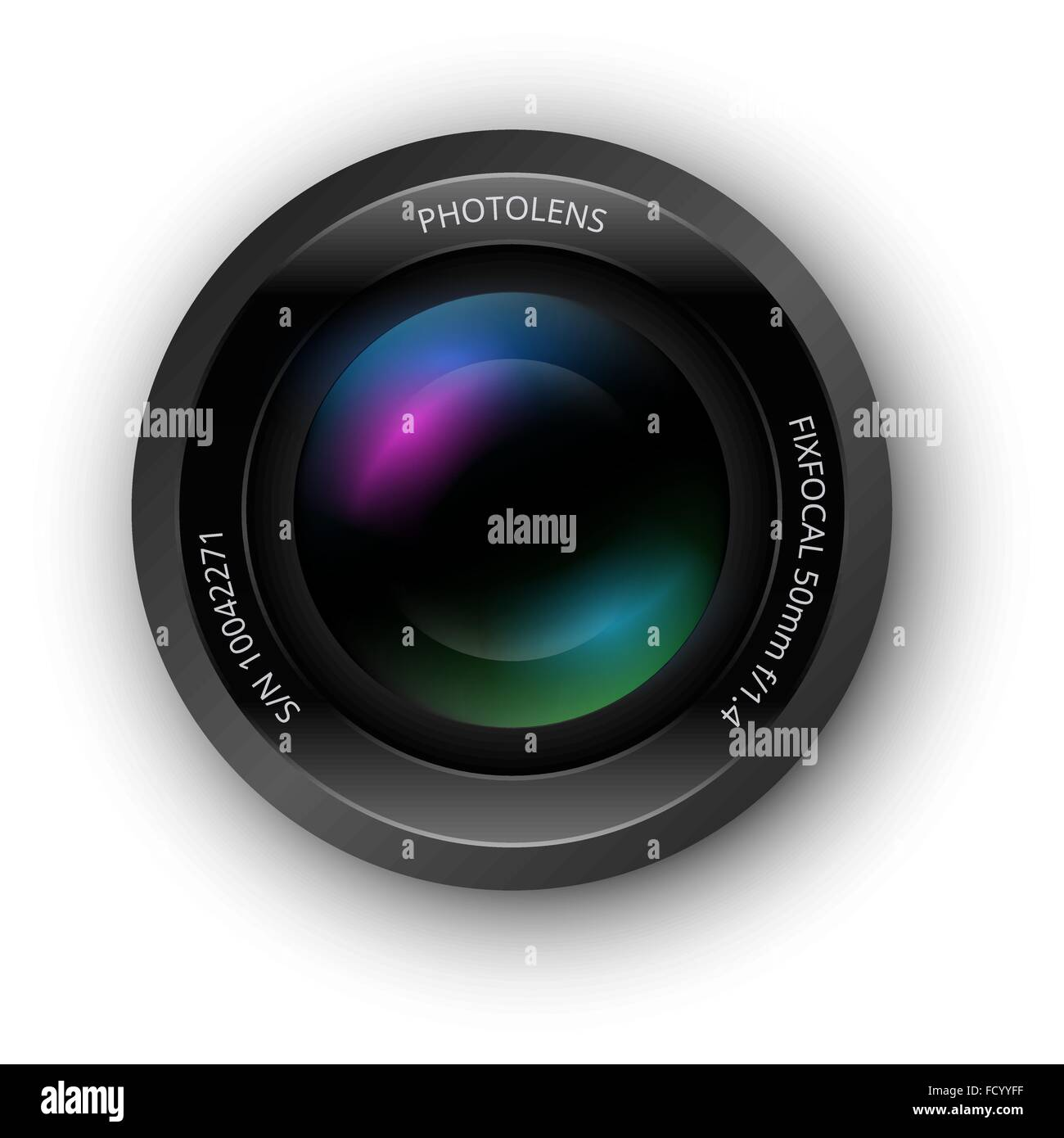 Lens for camer icon - Stock Vector