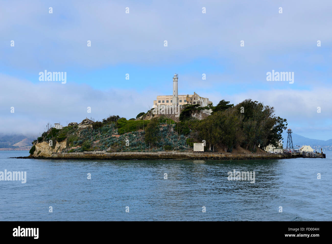 Departing Alcatraz Island, San Francisco, California, USA - Stock Image
