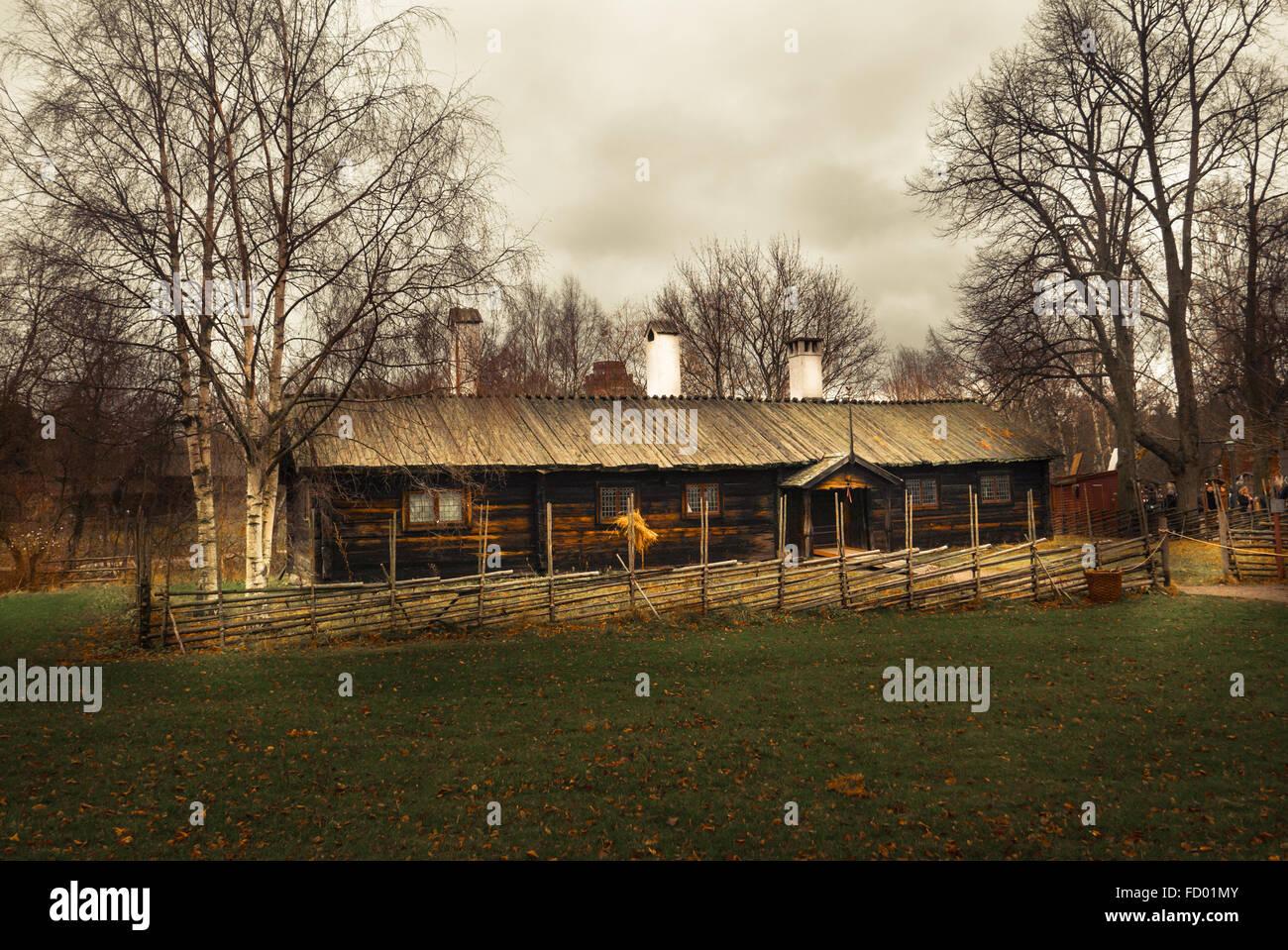 Farm Labourer's Cottage - Stock Image