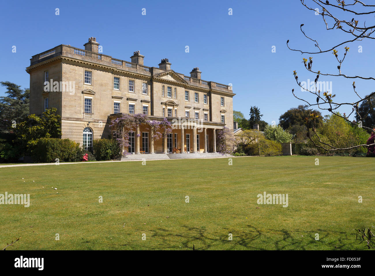Exbury House, home of the famous Exbury gardens, Hampshire, England, Uk in Spring - Stock Image