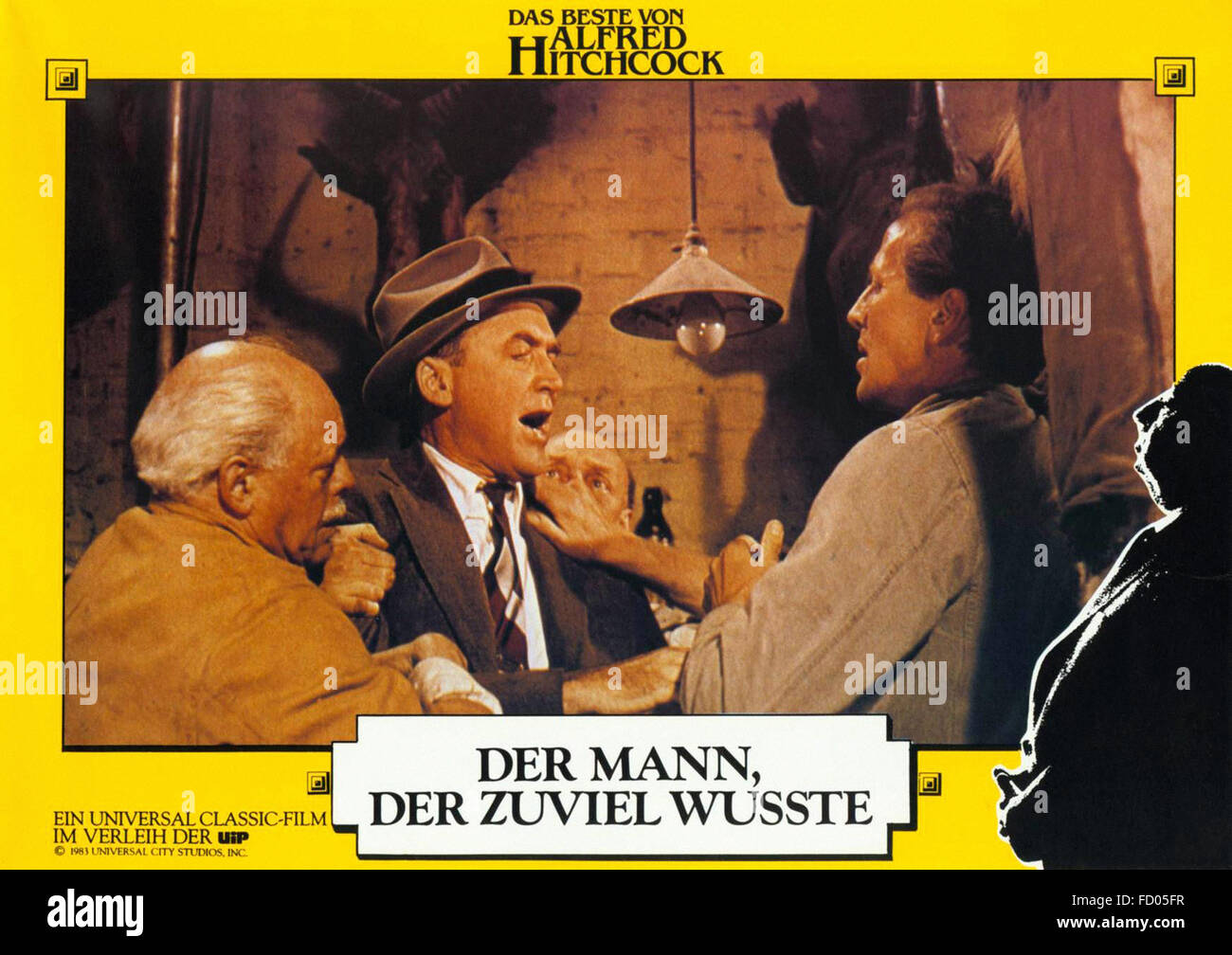 Man Who Knew Too Much, The (1956) - German Movie Poster - Stock Image
