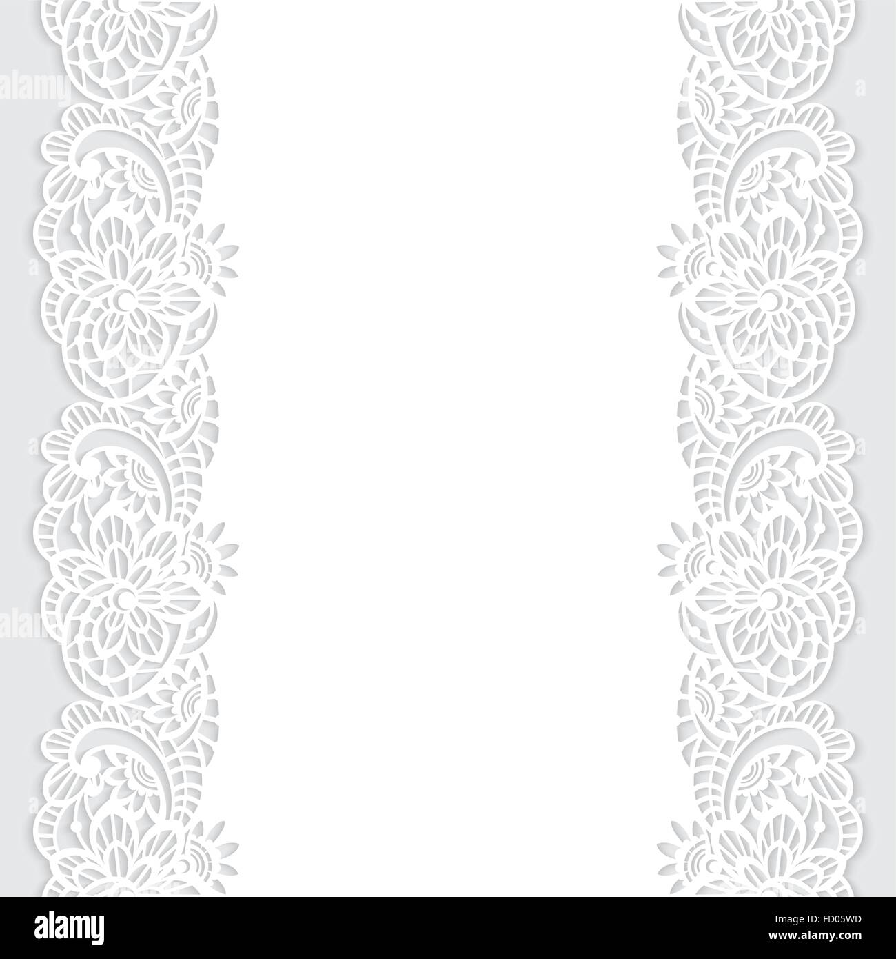 Vector Pattern With Border Of Floral Lace