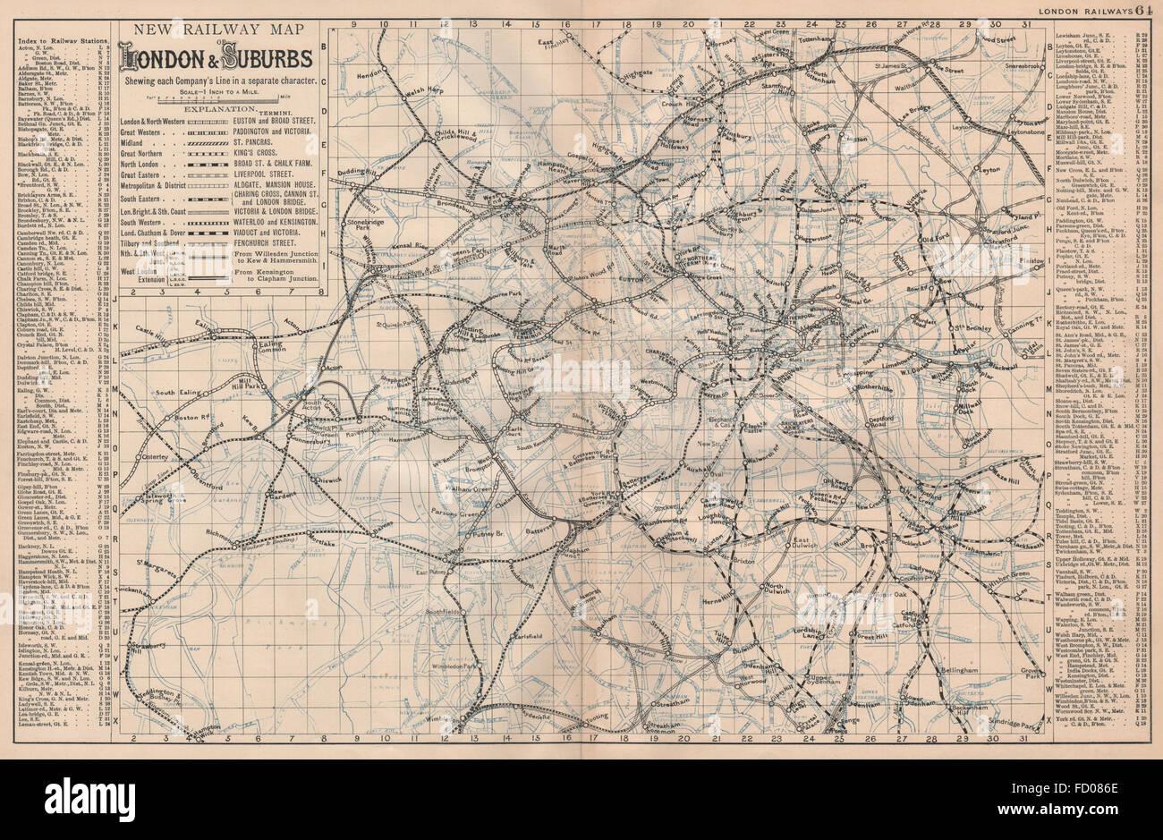 London And Suburbs Map.London Undergound Overground Railway Map Of London Suburbs