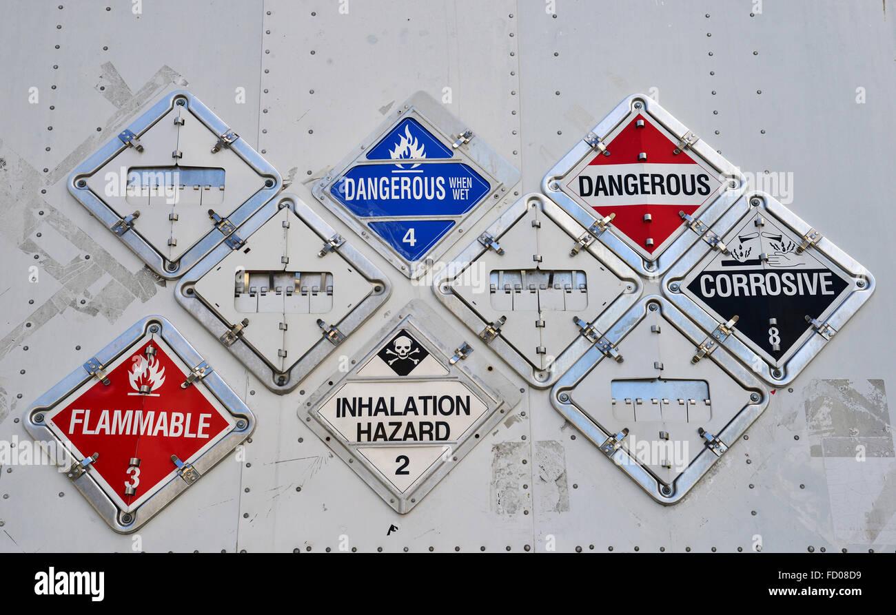 Hazardous material transportation - Stock Image