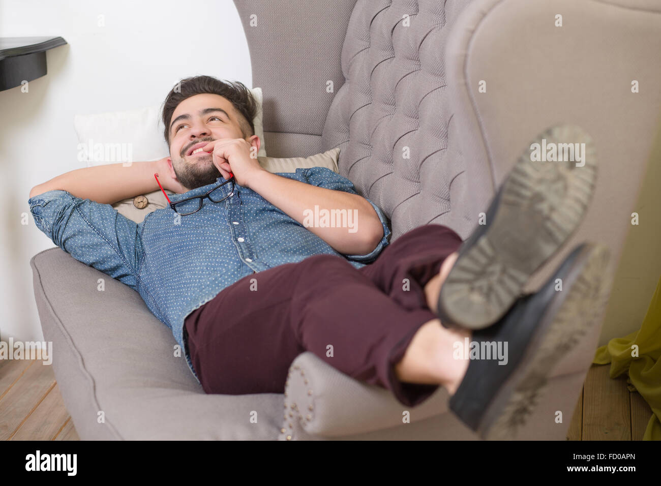 At the psychotherapist Stock Photo