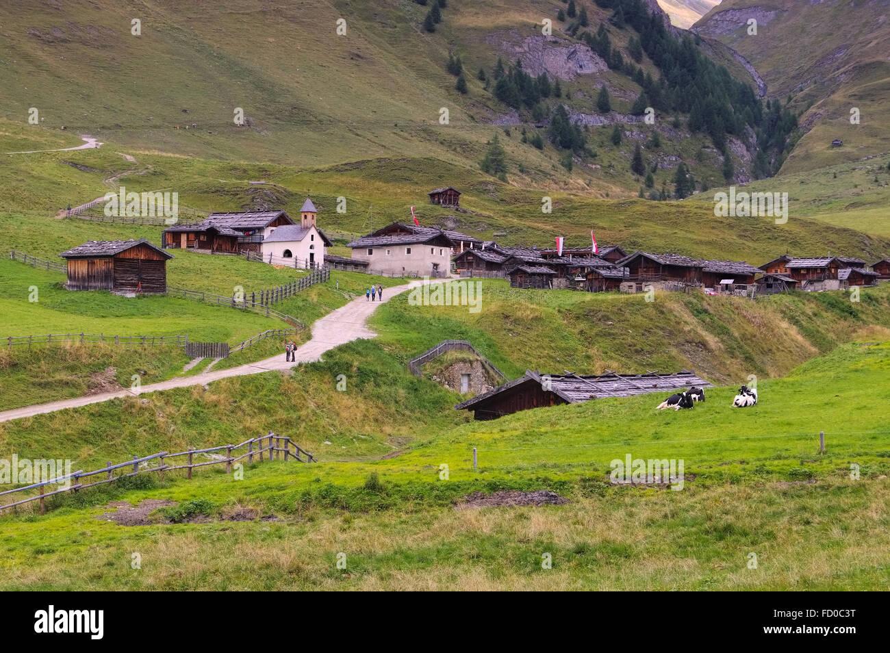 Fane Alm in den italienischen Dolomiten - Fane Alp in italian Dolomites Stock Photo