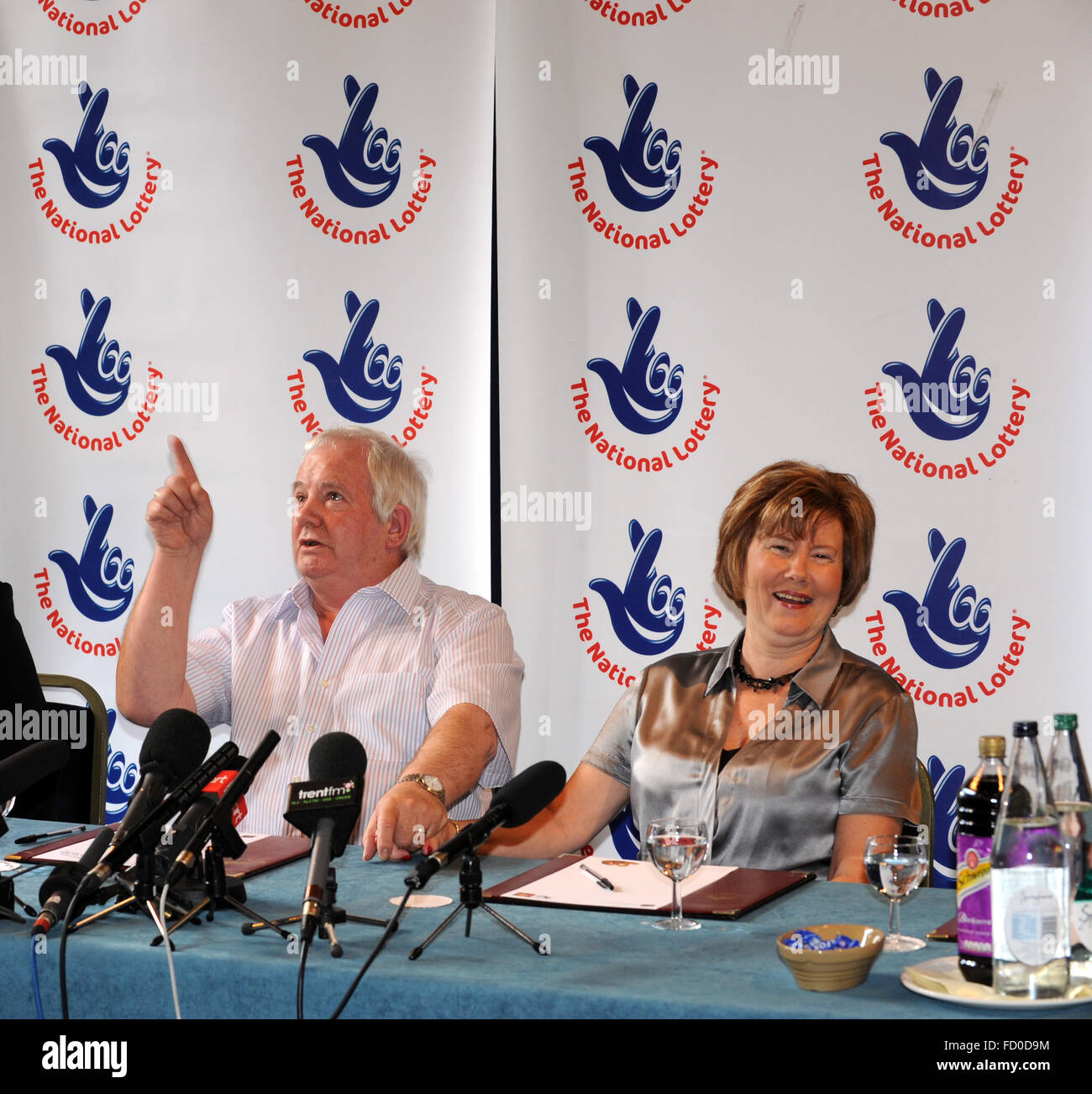 Lottery winners Ivan and Susan Westbury celebrating their £7,706,631 lottery win. - Stock Image