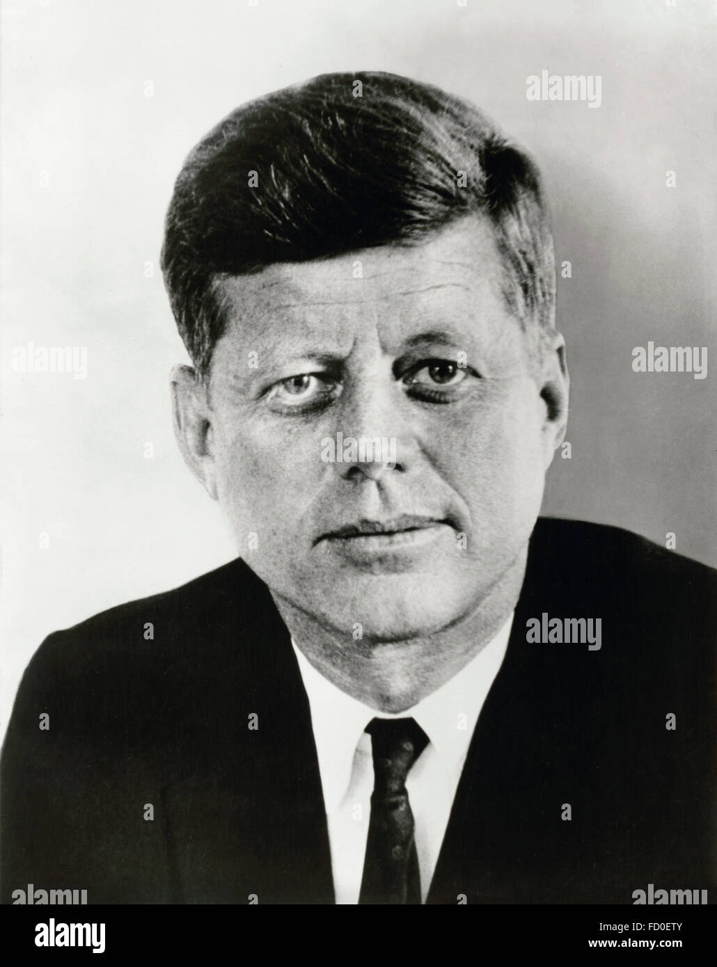 John F Kennedy, portrait of the 35th President of the USA, 1961 - Stock Image