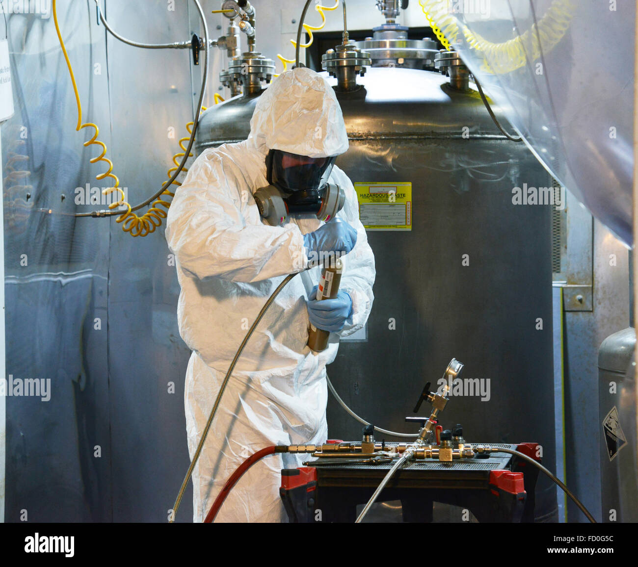 Hazardous, toxic gas management and disposal - Stock Image