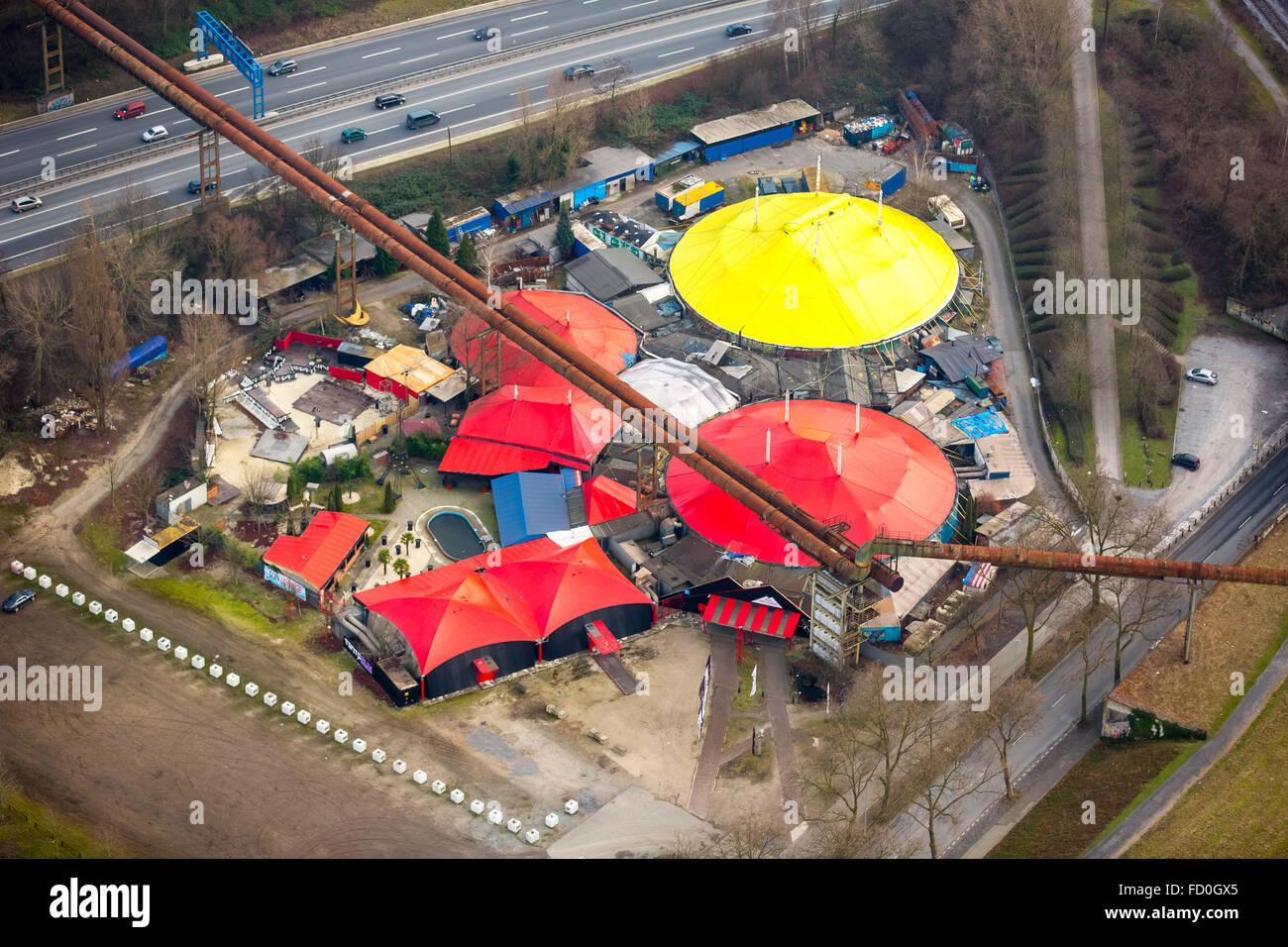 Aerial View Tentorium Former Delta Park Disco Tent