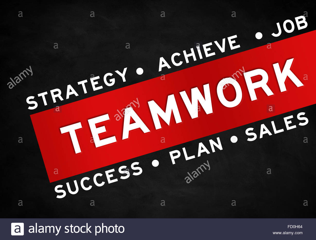 Teamwork concept advertising - Stock Image