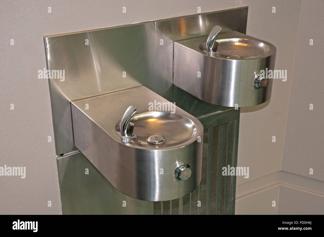 Water Cooler in airport - Stock Image