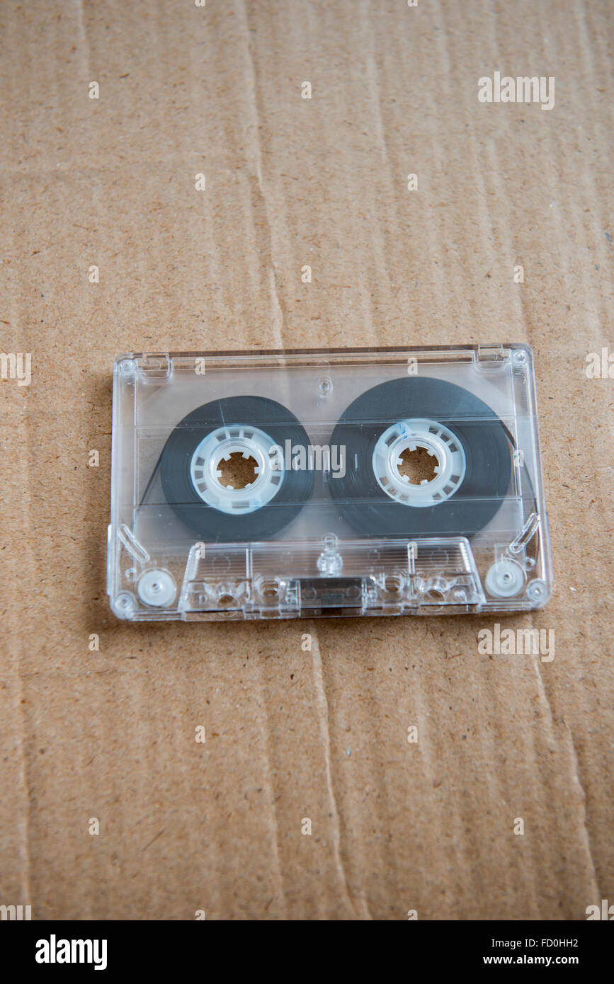 Still life of an old audio cassette tape - Stock Image