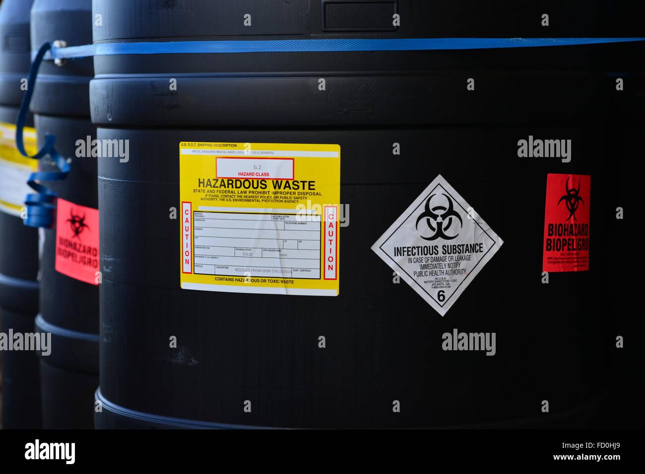 Hazardous waste - Stock Image