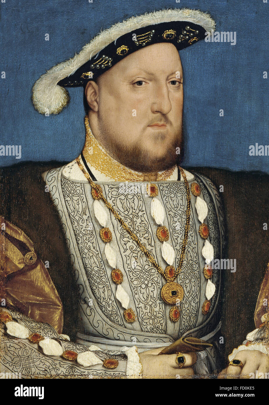 HENRY VIII of England (1491-1547) by Hans Holbein the Younger - Stock Image
