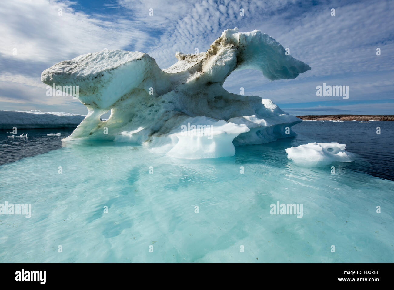 Canada, Nunavut Territory, Repulse Bay, Melting icebergs in Harbour Islands in Hudson Bay just south of arctic circle Stock Photo