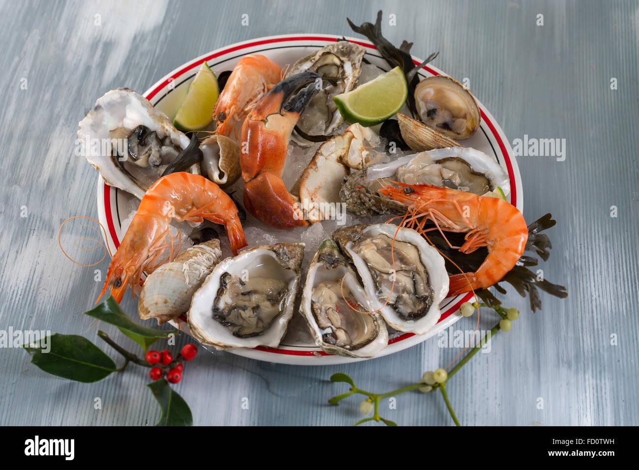 Seafood platter - Stock Image